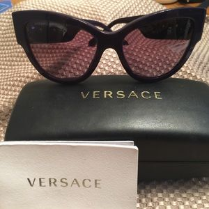 Versace purple cat dye sunglasses